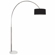 Sonneman 4097.13K Arc Shade Contemporary Satin Nickel Finish 66.5  Wide Arc Floor Lamp