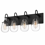 Sonneman 4289.25 Chelsea Retro Satin Black Finish 12.5  Tall 4 Light Bath Lighting Sconce