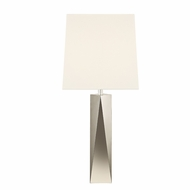 Sonneman 6102.35 Facet Column Contemporary Polished Nickel Finish 15  Wide Table Light