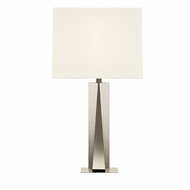 Sonneman 6103.35 Facet Beam Contemporary Polished Nickel Finish 18  Wide Lighting Table Lamp
