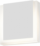 Sonneman 7214-98-WL SQR Contemporary Textured White LED Indoor/Outdoor Lighting Wall Sconce