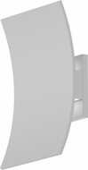 Sonneman 7260-98-WL Curved Shield Contemporary Textured White LED Outdoor Lighting Sconce