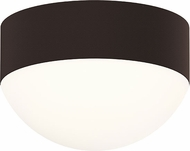 Sonneman 7309-XX-DL-72-WL REALS Modern Textured Bronze LED Exterior Flush Mount Lighting Fixture