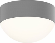 Sonneman 7309-XX-DL-74-WL REALS Contemporary Textured Gray LED Outdoor Flush Ceiling Light Fixture