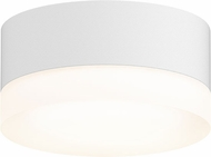 Sonneman 7309-XX-FW-98-WL REALS Modern Textured White LED Exterior Ceiling Light Fixture