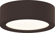 Sonneman 7309-XX-PL-72-WL REALS Contemporary Textured Bronze LED Outdoor Ceiling Lighting Fixture