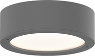 Sonneman 7309-XX-PL-74-WL REALS Modern Textured Gray LED Exterior Ceiling Light Fixture
