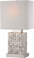 Sterling 112-1155 Canal Modern Mother Of Pearl & Chrome Table Lamp Lighting