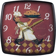 Sterling 118-010 Busy Chef Contemporary Print on wood tone Busy Chef Clock