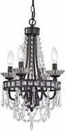 Sterling 122-024 Chesham Dark Bronze With Clear Crystal Mini Chandelier Light
