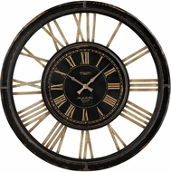 Sterling 130-002 Mondanock Antique Black & Cream Large Clock With Distressed Hand painted Frame