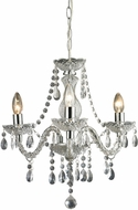Sterling 144-015 Modern Clear & Chrome Mini Chandelier Light