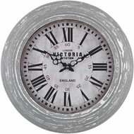 Sterling 171-002 Distressed Grey Victoria Station Clock
