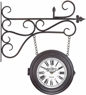 Sterling 171-015 Bronze Double Sided Curled Iron Wall Clock