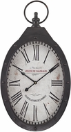 Sterling 171-017 Aged Iron Oval Iron Wall Clock