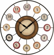 Sterling 26-8672 Pool Ball Brooklyn 8 Ball Wall Clock