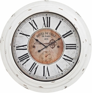 Sterling 351-10246 Theodore Antique White Theodore Wall Clock In Antique White