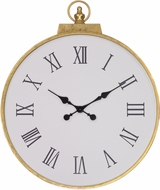 Sterling 351-10280 Karlova Gold Leaf Wall Clock