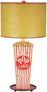 Sterling 84-026 Movie Snack Contemporary Red & White Table Lamp