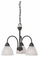 Thomas Lighting 190005763 Tia Painted Bronze Finish 14  Tall Mini Chandelier Lighting
