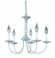 Thomas Lighting SL800378 Essentials Traditional Brushed Nickel Finish 18.75  Wide Mini Lighting Chandelier