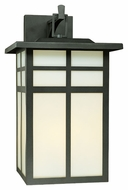 Thomas Lighting SL91067 Mission Craftsman Black Finish 19  Tall Outdoor Wall Light Sconce