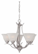 Thomas Lighting TK0022217 Prestige Brushed Nickel Finish 21  Tall Mini Chandelier Lighting