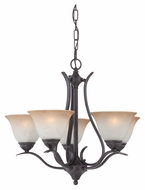 Thomas Lighting TK0022722 Prestige Sable Bronze Finish 24  Wide Mini Lighting Chandelier