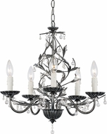 Trans Globe 70515-SL Antique Silver Mini Hanging Chandelier