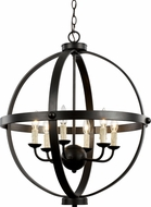 Trans Globe 70596-ROB Sphere Modern Rubbed Oil Bronze Chandelier Light
