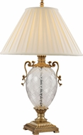 Trans Globe RTL-8801 Etched Antique Brass Lighting Table Lamp