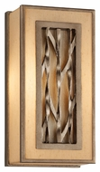 Troy B3151 Serengeti Bronze Leaf Finish 6.5  Wide Wall Lamp