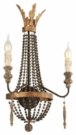Troy B3532 Delacroix French Bronze Finish 24.625  Tall Light Sconce