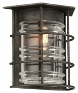 Troy B3791 Brunswick Aged Pewter Finish 9.75  Wide Exterior Wall Lighting
