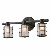 Troy B3843 Mercantile Vintage Bronze Finish 8.75  Tall 3-Light Lighting For Bathroom