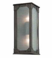 Troy B3873 Hoboken Vintage Aged Pewter Finish 8.5  Wide Exterior Lighting Wall Sconce