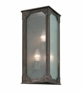 Troy B3874 Hoboken Retro Aged Pewter Finish 18.5  Tall Outdoor Wall Lighting Sconce
