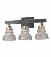 Troy B3953 Menlo Park Retro Old Silver Finish 10  Tall 3-Light Bathroom Lighting Fixture