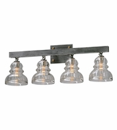 Troy B3954 Menlo Park Vintage Old Silver Finish 28  Wide 4-Light Vanity Lighting