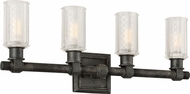 Troy B4234 Vault Wrought Iron Aged Pewter 4-Light Bath Lighting