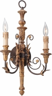 Troy B4532 Luxembourg Hand Carved Wood And Wrought Iron Light Sconce