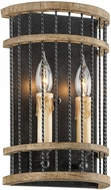 Troy B4852 Vineyard Rusty Iron Sal Wood Sconce Lighting