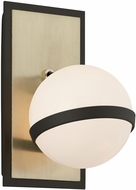 Troy B5301 Ace Modern Textured Bronze With Brushed Brass Halogen Wall Lamp