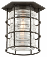 Troy C3790 Brunswick Aged Pewter Finish 12  Wide Exterior Ceiling Lighting