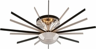 Troy C4803 Atomic Contemporary Polished Nickel with Matte Black  LED Wall Light Fixture