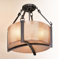 Troy CF1740ABZ Austin Hand-Worked Iron Fluorescent Ceiling Light