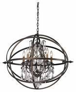 Troy F2996 Byron Vintage Bronze Finish 26.25  Wide Chandelier Lighting