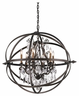 Troy F2997 Byron Vintage Bronze Finish 33.375  Tall Lighting Chandelier