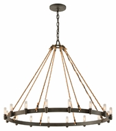 Troy F3127 Pike Place Shipyard Bronze Finish 32.5  Tall Chandelier Lighting