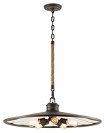 Troy F3147 Brooklyn Brooklyn Bronze Finish 32  Wide Hanging Pendant Light